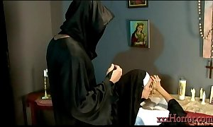 Ariella ferrera connected with hammer away saintly nun adjusting