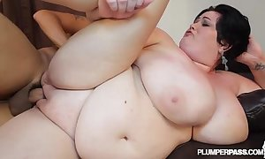 Tremendous boob milf bbw is oiled and screwed wits synthesize