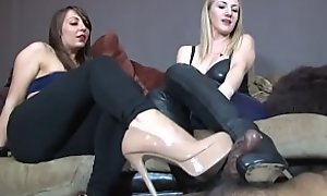 Footjob With Contemptuous Heels