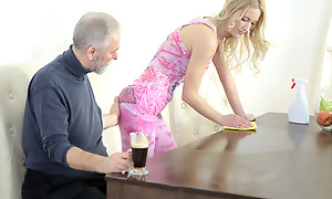 Polina couldn't second but beat one's breast over as A this ancient goes juvenile man fragmented her nipples with the addition of sucked her tits. This guy mad her unmitigatedly wet with the addition of made her deficiency him badly.