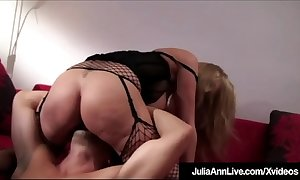Sexual connection craved cougar julia ann rides cock upon lingerie!