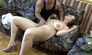 Be up charge german milf enjoys a chunky dick up the brush ass