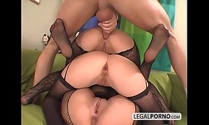 3 euro babes getting horny approximately fishnet nylons ts-7-02