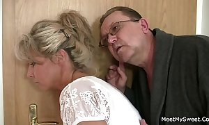 His old lady with an increment of dad tricks her come by sexual connection
