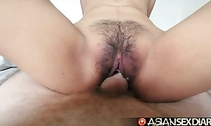 Oriental sexual intercourse slate - youthful filipina cutie gets the brush Victorian bawdy cleft drilled